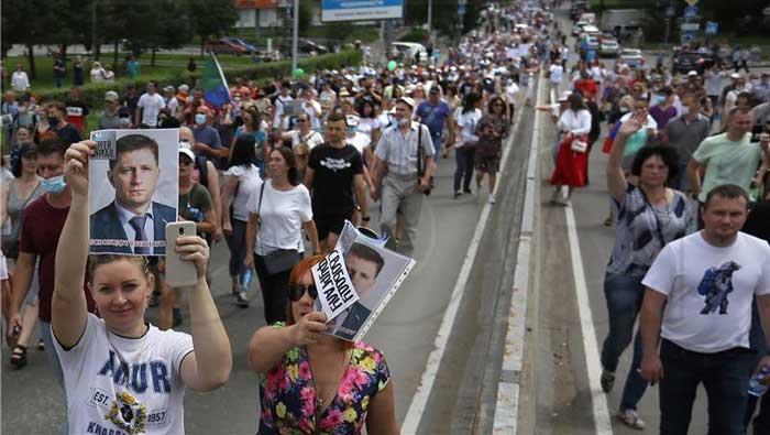 Prosvjedi na dalekom istoku Rusije četvrti vikend zaredom