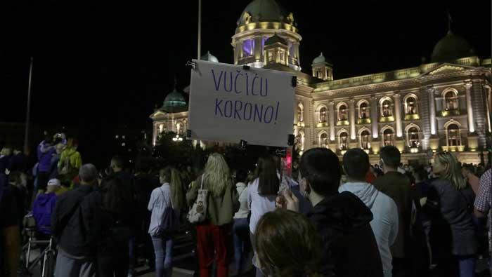 Novi prosvjed u Beogradu, snage opkolile institucije