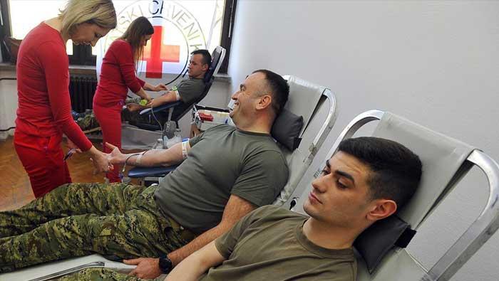 Pripadnici GOMBR-e u akciji dobrovoljnog darivanja krvi | Domoljubni portal CM | Press