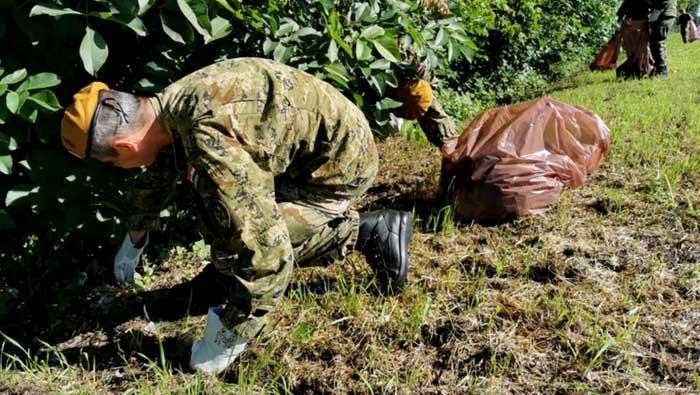 Pripadnici Gombr-e proveli akciju čišćenja Dravske šume u Varaždinu | Domoljubni portal CM | Press