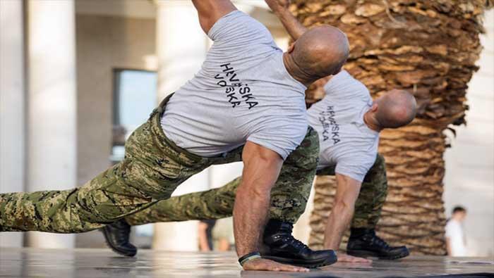Hrvatska vojska na treningu Aktivne Hrvatske u Splitu | Domoljubni portal CM | Press