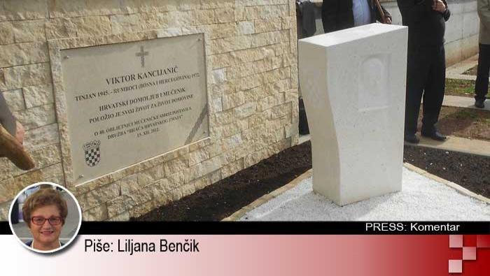 IDS-ovom jednoumlju nema kraja: Nakon Thompsona i starohrvatskog pozdrava zabranili bi i nadgrobni spomenik Viktoru Kancijaniću | Domoljubni portal CM | Press
