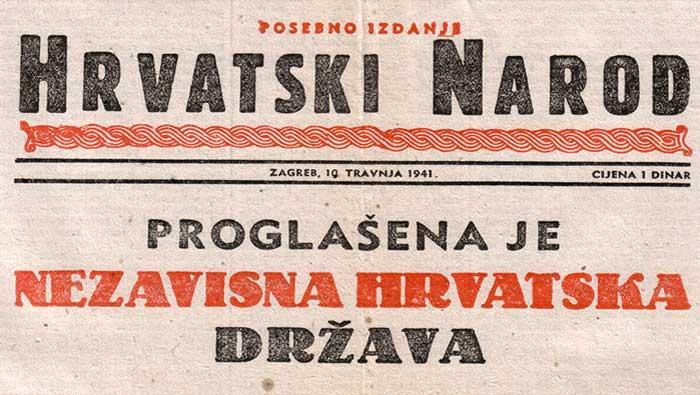 10. travnja 1941. - Proglašena Nezavisna Država Hrvatska (NDH) | Domoljubni portal CM | Hrvatska kroz povijest