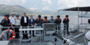 Crna Gora: Posjet ministra obrane Crne Gore brodu OOB-31 'Omiš' u luci Bar
