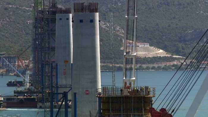 Ne staje gradnja Pelješkog mosta