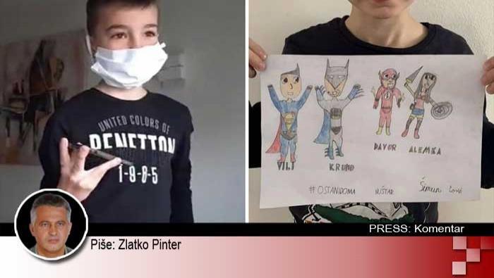 Dječak Šimun zna tko su superjunaci našeg vremena | Domoljubni portal CM | Press