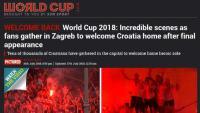 Svjetski mediji o dočeku Vatrenih: Nevjerojatne scene u Zagrebu
