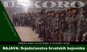 NAJAVA: Svjedočanstva hrvatskih bojovnika | Crne Mambe | Svjedočanstva hrvatskih bojovnika