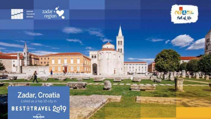 Zadar uvršten u TOP 10 gradskih destinacija uglednog Lonely Planeta za 2019.