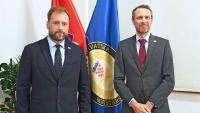 Ministar Banožić s veleposlanikom Ujedinjene Kraljevine Dalgleishom