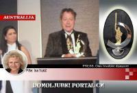 Udruga 'Glas hrvatske dijaspore' dodijelila Charlesu Billichu nagradu za životno djelo za pomoć Hrvatskoj   Domoljubni portal CM   Hrvati u svijetu