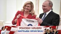 Predsjednica Grabar-Kitarović Putinu dala dres, on njoj cvijeće