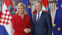 Predsjednica se u Bruxellesu sastala s Tuskom