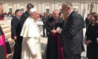 Božinović i Medved na audijenciji kod Pape