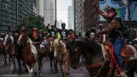 Osma noć prosvjeda u SAD-u nešto mirnija