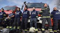 Tisno - vatrogasci prosvjedovali u znak potpore Frani Lučiću