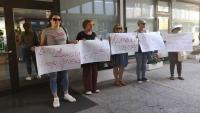 Prosvjed ispred Ministarstva zdravstva